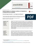 Epidemiologia de diabetes en Sudamerica
