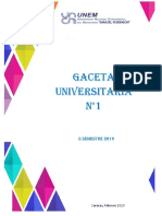 Gaceta Universitaria UNEM