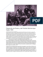 Artículo. Desarrollo de Rusia y del Partido Bolchevique hasta 1905