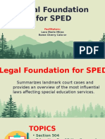 LEGAL FOUNDATION FOR SPED