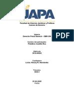 Primitivo - Derecho Penal General – DER-206 - Actividad IV
