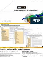 Ansys Mechanical Acoustics Learning Resources