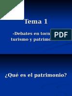 Tema 1 (Debates en torno a turismo y patrimonio)