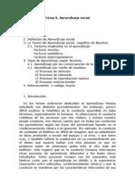 Bases Psicosociales Tema 6 - Aprendizaje Social