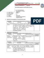 SESIÓN DE APRENDIZAJE - EPT2020