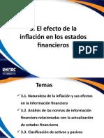 3 El efecto de la inflación en los estados financieros