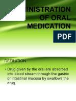 Administration of Oral Medication