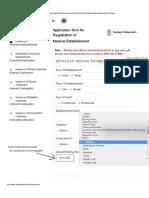 Request Changes point wise Registration Software U.P. doctors