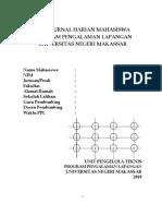Buku Jurnal Harian Dan Penilaian Mahasiswa PPL II