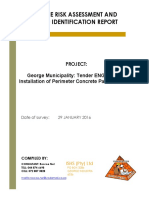 RISK ASSESSMENT REPORT -George Municipality - Tender ENG0042016 Installation of Perimeter Concrete Palisade Fe