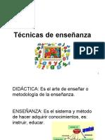 3.- Técnicas de enseñanza
