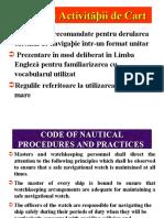 Curs 13 - Code of Nautical Procedures