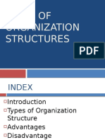 Types of organization structures