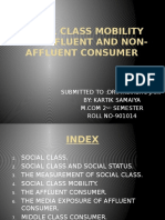Social class mobility and affluent and non-affluent consumer