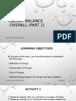 Energy Balance - Overall Part 1