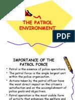 THE PATROL ENVIRONMENT