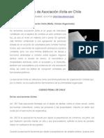 El Delito de Asociación Ilícita en Chile