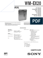 Sony WM-EX20 Service Manual