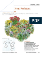 Hot Color Heat Resistant Garden Plan