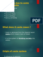 IMPACTS OF CASTE SYSTEM IN INDIA