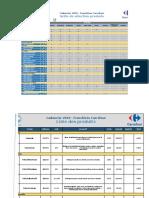 Cadencier Franchise Carrefour 2019 version PDF .xlsx
