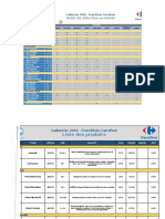Cadencier Franchise Carrefour 2019 version PDF .xlsx