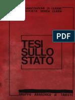 Gruppo Anarchico di Trieste - Tesi sullo Stato