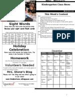 Newsletter Week 18