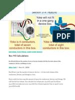 Box Fill Calculations