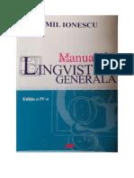 Manual de Lingvistica Generala-Emil Ionescu