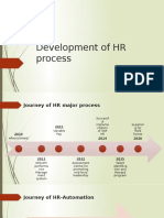 HR process evolution and re-engineering