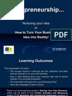 Nurturing your idea