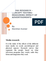 Media Research – Concept Testing– Measuring impact