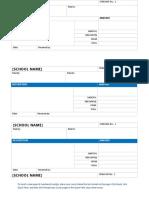 School fee payment receipt template -2 2