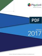 PLEXICRIL - Tabela Preços 2017