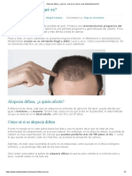 Alopecia difusa, ¿qué es, cuál es la causa y qué tratamiento tiene_