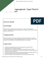 Wewenang, Tanggungjawab, Tugas Pokok & Fungsi Organisasi