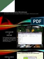 Cómo instalar El programa