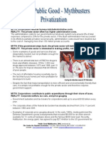 Myths and Facts About Privatization