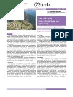 LAS CULTURAS PRECOLOMBINAS EN AMERICA1