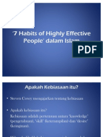 7 Habits of Highly Effective People Dalam Islam