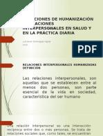 SOLUCIONES DE HUMANIZACIÓN Y RELACIONES INTERPERSONALES EN SALUD