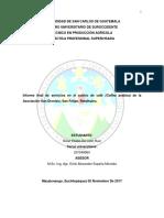 Informe final de servicios en el cultivo de café (Coffea arabica) de la Asociación San Dionisio, San Felipe, Retalhuleu.