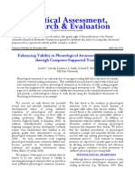 Enhancing Validity in Phonological Awareness Assessment Through Computer-Supported Testing