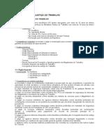 DTO DO TRABALHO - RESUMO - ORGANIZAÇÃO DA JUSTIÇA DO TRABALHO