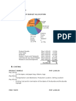 BUDGET - COSTING FOR IMC PLAN