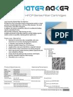 PFI Polypropylene High Flow HFCP Series Element Filter Cartridges