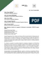 Adoptarea Măsurilor de Urgență În Diminuarea Consecințelor COVID 19