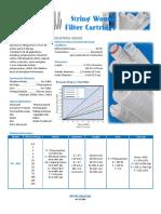 PFI Filtration String Wound Filter Cartridges Data Sheet