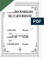 Promedios Ponderados - IV Bimestre